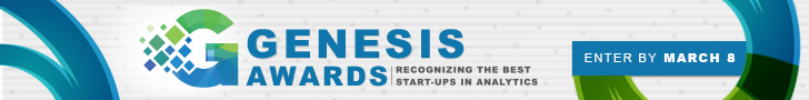 Genesis Awards Recognizing the Best Start-ups in Analytics Enter by March 8