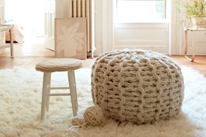 Fabulous Arm-Knit Floor Pouf