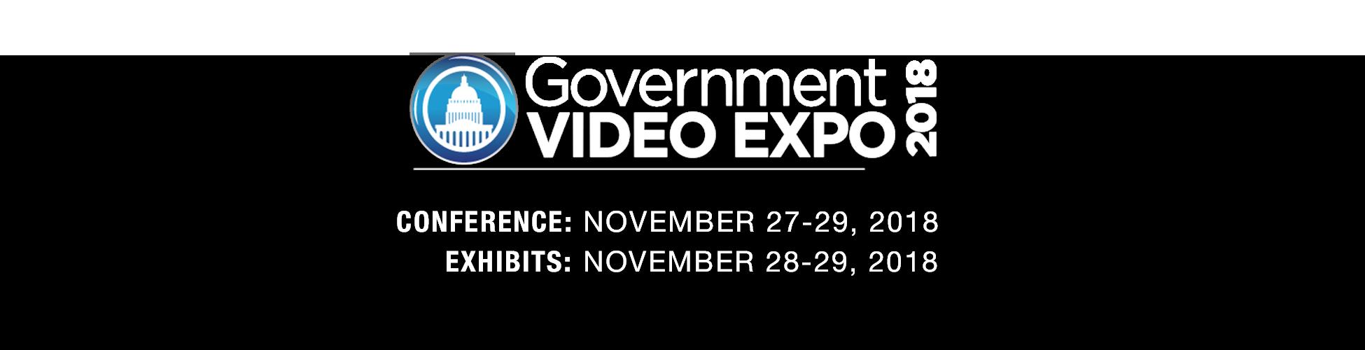 GV Expo 2018, Conference: November 27-29, 2018, Exhibits: November 28-29, 2018