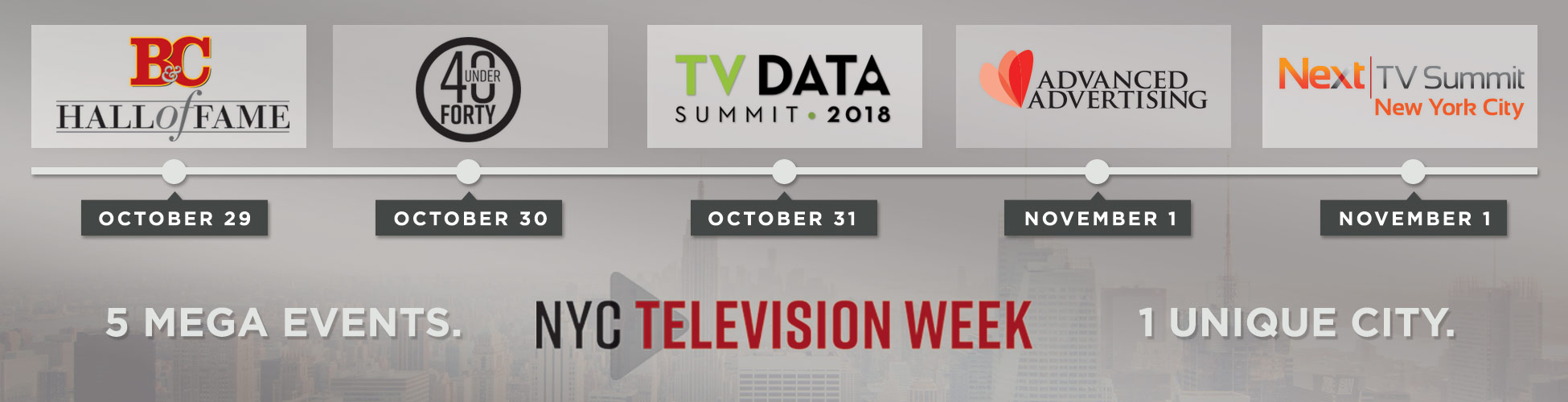 NYC Television Week: 5 Mega Events, 1 Unique City