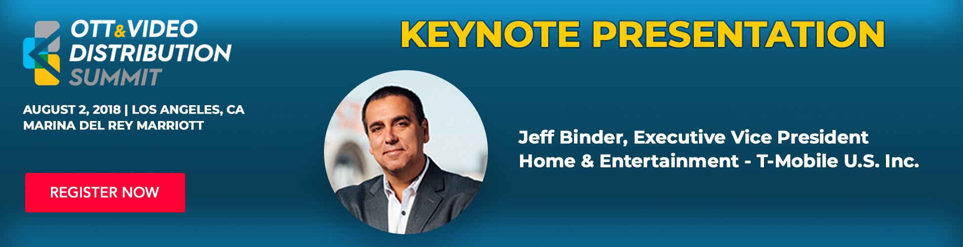 Jeff Binder, CEO - Keynote Presentation