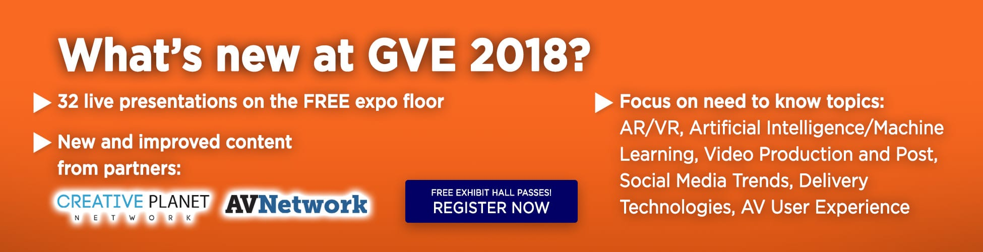 GV Expo 2018, What is new at GVE 2018?