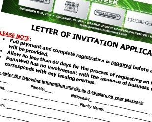 Letter of Invitation Application - Petroleum Network Education Conferences, May 19-20, 2020 Houston, TX
