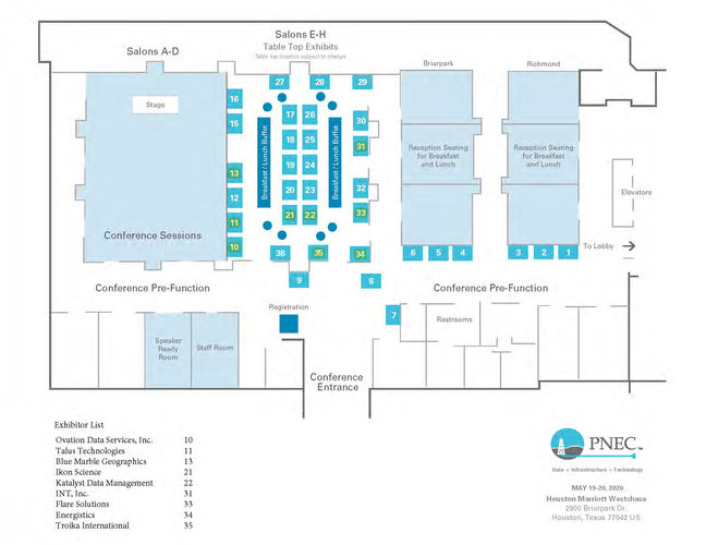 2019 PNEC Floor Plan - Petroleum Network Education Conferences, May 19-20, 2020 Houston, TX